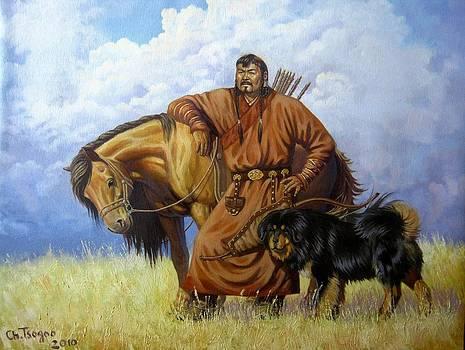 Mongolian Men by Tsogbayar Chuluunbaatar