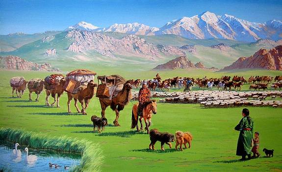 Mongolian Nomadic Life by Tsogbayar Chuluunbaatar