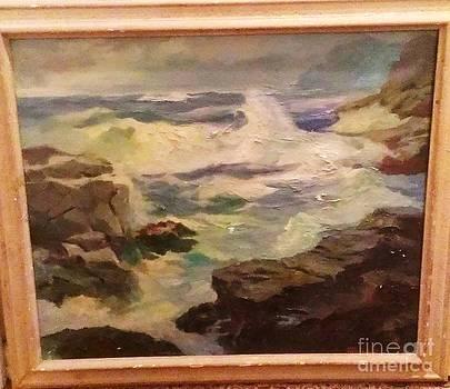 Monhegan Island Maine Coastal Scene by Harry S Bressler