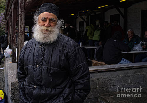 Monk in Dafni by Mount Athos