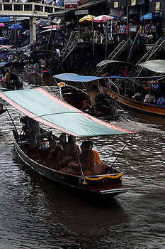 Monks at Floating Market by Duane Bigsby