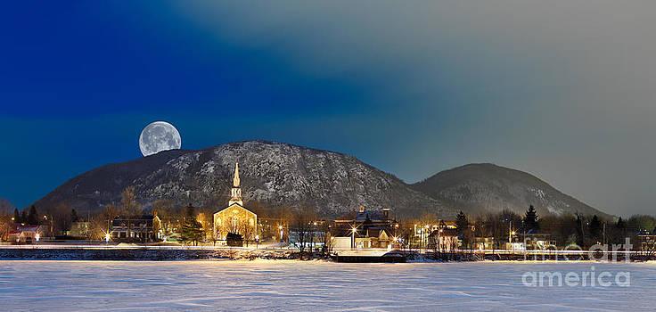 Mont Saint Hilaire Quebec Winter Panorama by Laurent Lucuix