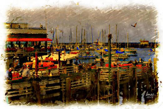 Monterey Wharf  by Barbara R MacPhail