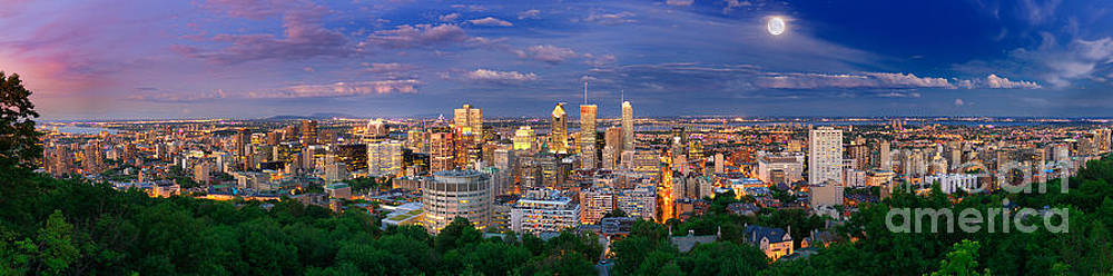 Montreal By Night From the Mount Royal Lookout by Laurent Lucuix