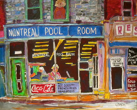 Montreal Pool Room by Michael Litvack