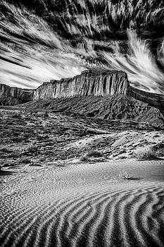 Monument Valley Black and White by Paul Bartell