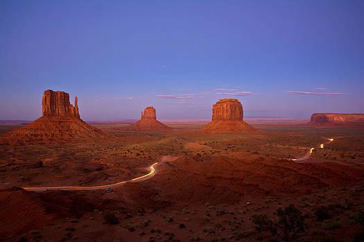 Randall Branham - Monument Valley long exposure twilight