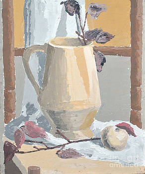 Monumental still life with a vase by Martin Stratiev