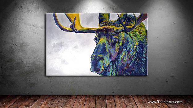 Teshia Art - Moody Moose DISPLAY IMAGE