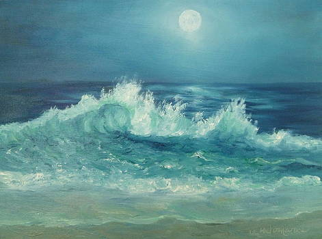 Moon Beach Painting by Amber Palomares