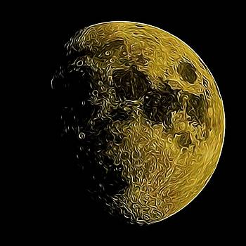 Moon drawing by Ron Harpham