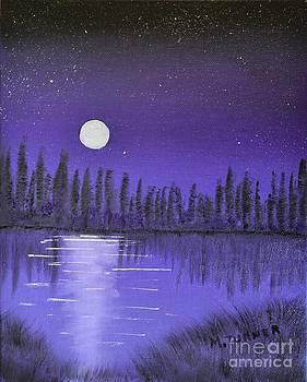 Moon lit bay by Melvin Turner