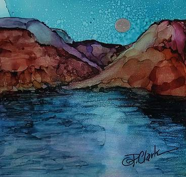 Moon Over Lake Powell by Donna Pierce-Clark
