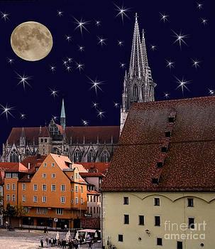 Moon Over Regensburg by Julie Palyswiat