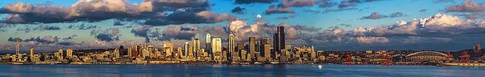 Moon Over Seattle by Scott Logel