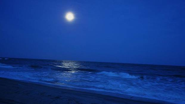Moon over the Atlantic by Jeff Moose