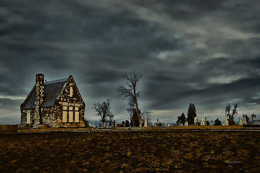 Moon Over The Stone House by Stephen  Johnson