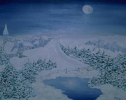 Inge Lewis - Moonlight over Kitzbuehel