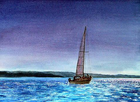 Moonlight Sailing by Kathy Dolan