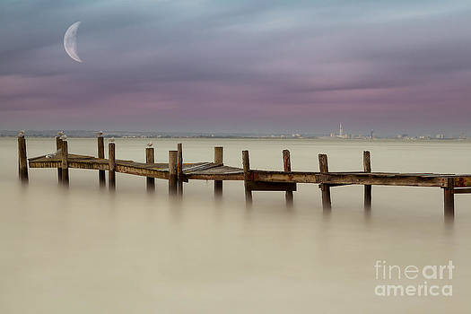English Landscapes - Moonlit Jetty