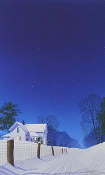 Moonlit Snowfall by C Robert Follett
