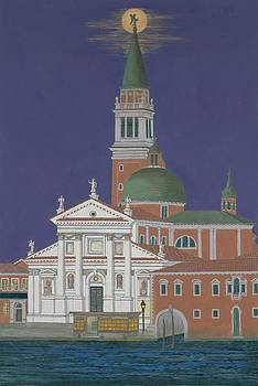 Moonrise Over Venice by David Hinchen