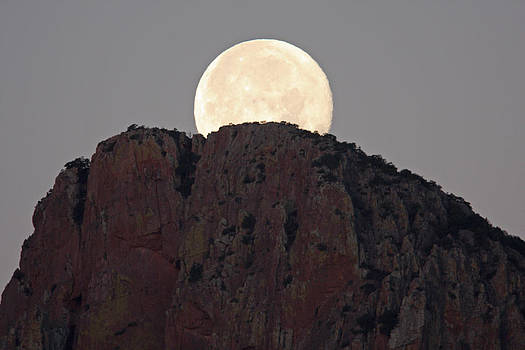 Moonset Over The Chiricahuas by Steve Wolfe