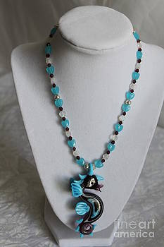 MoonStruck Sea Horse Necklace by Amy Gallagher