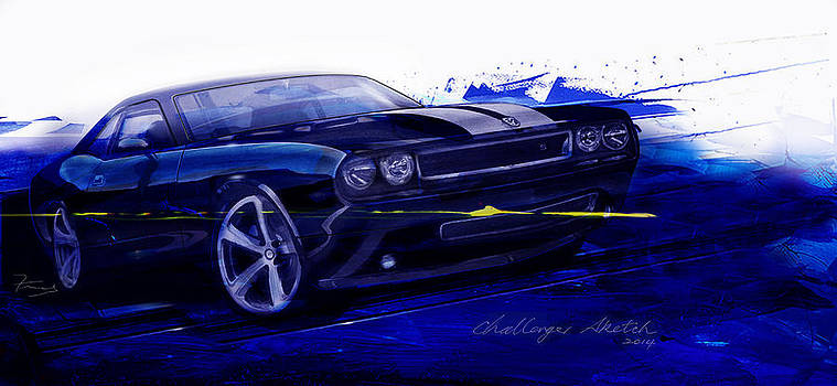 Mopar Challenger Art by Fred Otene
