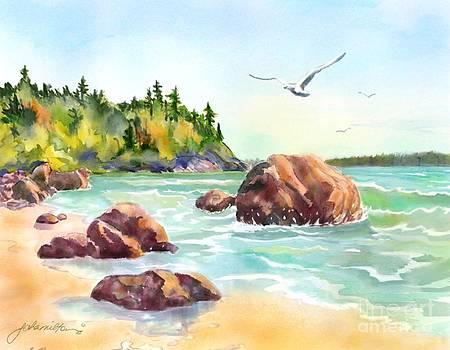 Morning at the Beach by Joan A Hamilton
