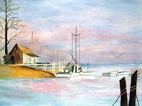 Morning at the Harbor by Zelma Hensel