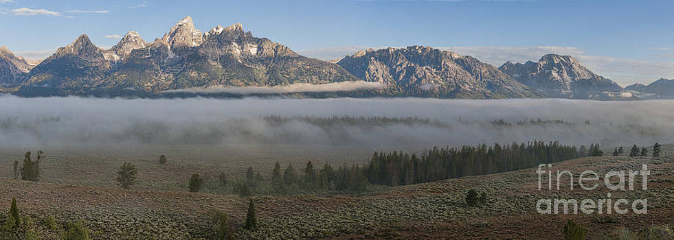 Sandra Bronstein - Morning Fog in Grand Teton