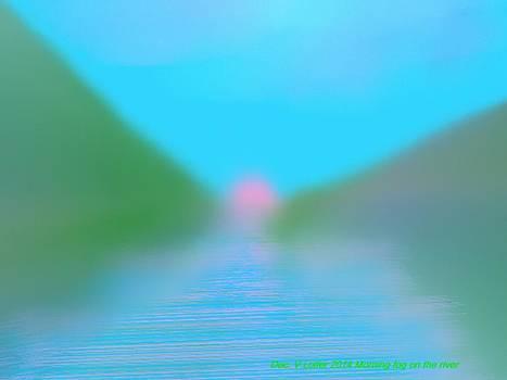 Morning fog on the river by Dr Loifer Vladimir
