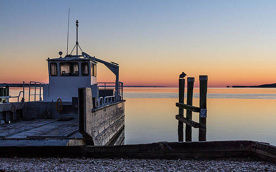 Morning Indian Pass Ferry Florida by Tom Goldsmith