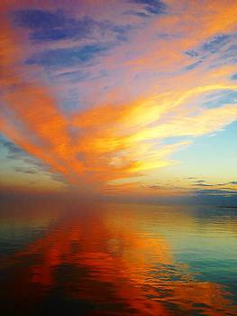 Morning Sky Ocracoke NC by Joan Meyland
