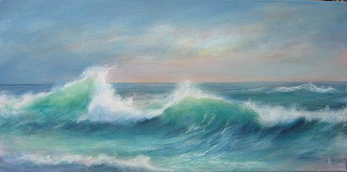 Morning Surf by Rita Palm
