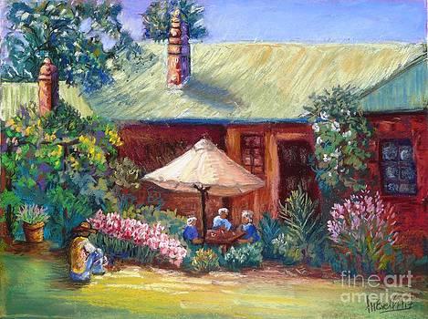 Morning tea in the garden by Marieve Ortiz