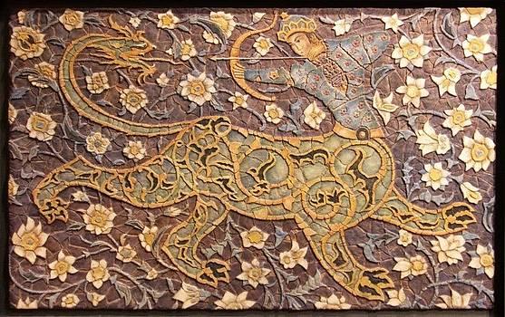 Mosaic sphinx.  by Jose Manuel Solares