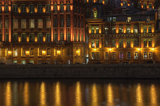 Moscow at Night by Magomed Magomedagaev