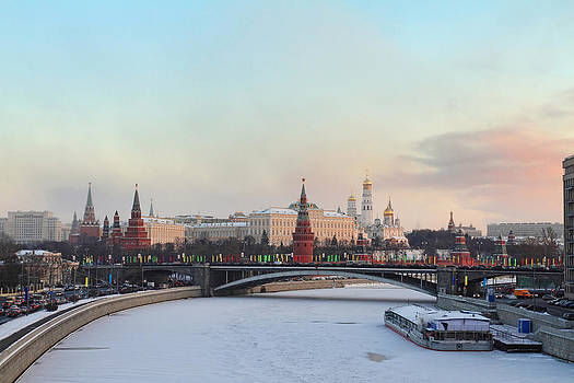 Moscow Kremlin in winter by Alex Sukonkin