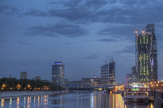 Moscow Skyline by Magomed Magomedagaev