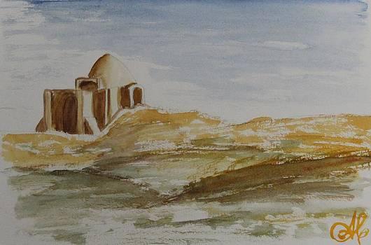 Mosque in the desert by Alina Craciun