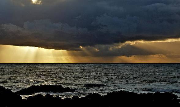 Moss Beach Sunset Storm by Elery Oxford