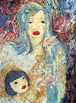 Mother and child by Le Thi Viet Ha