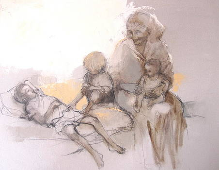 Mother and Children by Alida Bothma