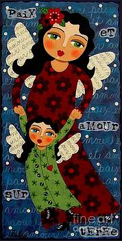 Mother and Daughter Angels by LuLu Mypinkturtle