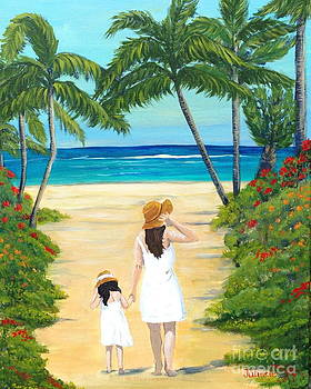 Mother and Daughter at The Beach by Julissie Saltzberg