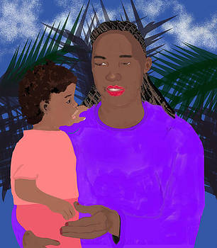 Mother and Daughter by Pharris Art
