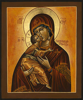 Mother of God  Vladimir by Fr Barney Deane