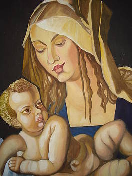 Mother with her child by Prasenjit Dhar